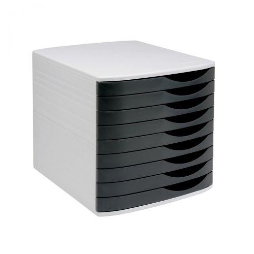 5 Star Elite Desktop Drawer Set 9 Drawers A4 & Documents up to 260x350mm Grey/Black