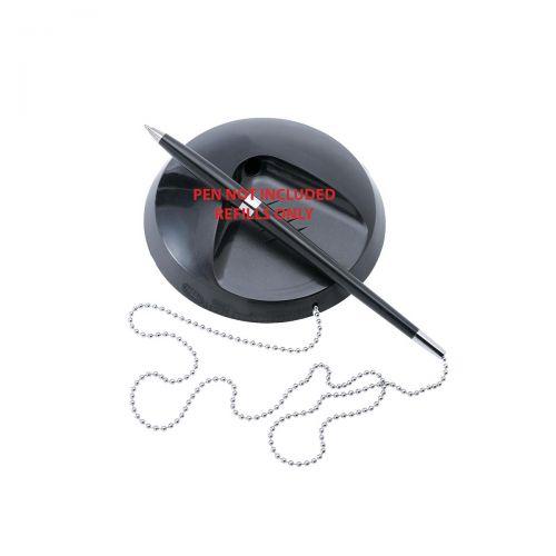 5 Star Office Desk Pen Refills Black [Pack 20]