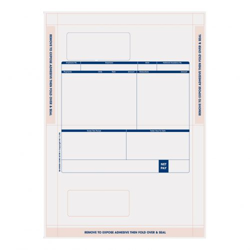 Sage Compatible Payslip Mailer Self Seal Ref SE100 [Pack 500]