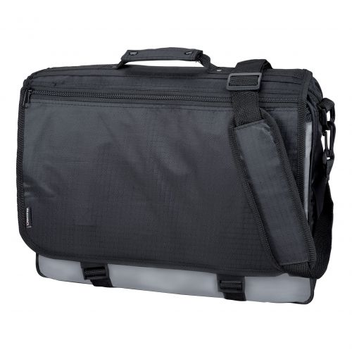 LightPak Wave Messenger Bag Polyester Black/Grey Ref 46069