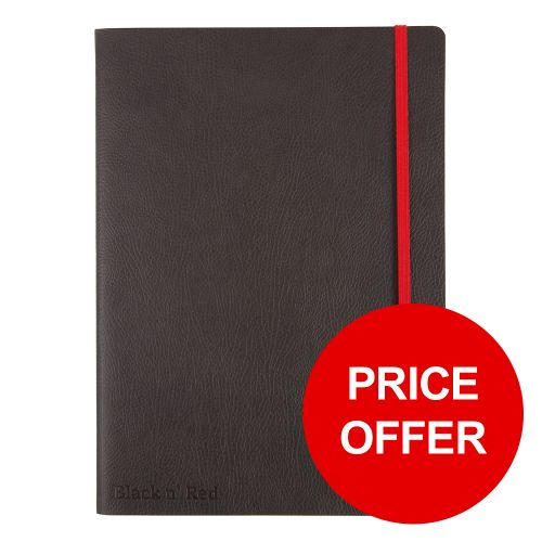 Black By Black n Red Business Journal Soft Cover Ruled and Numbered 144pp B5 Ref 400051203 [PRICE OFFER]