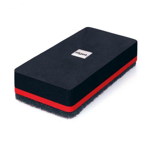 Sigel Glass Board Dry Eraser Magnetic Black Ref GL188
