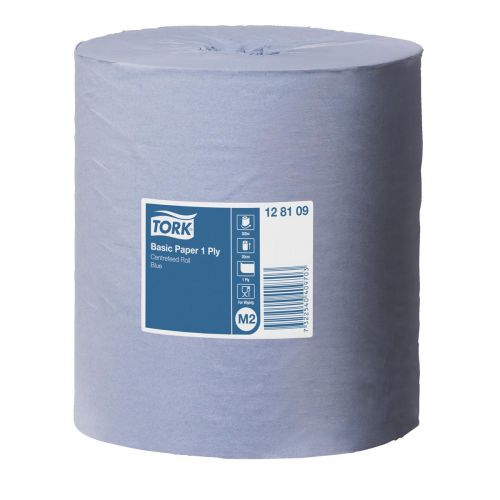 Tork FSC Universal Centrefeed Paper Roll 1 Ply 194mm x 300m Blue [Pack 6]