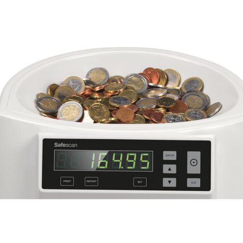 Safescan 1250 EUR Coin Counter and Sorter for Euro Grey Ref 113-0549