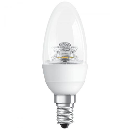 GE Bulb LED E14 Candle Crown Deco 6W 40W Equivalent EEC A+ Energy Smart Dimmable Clear Ref 93030251