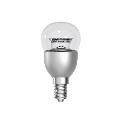 GE Bulb LED E14 Globe Crown Deco 6W 40W Equivalent EEC A+ Energy Smart Dimmable Clear Ref 9303263