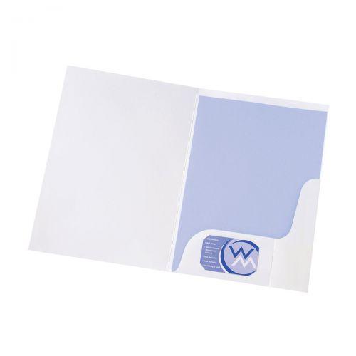 5 Star Office Corporate Presentation Folder A4 Gloss White [Pack 50]