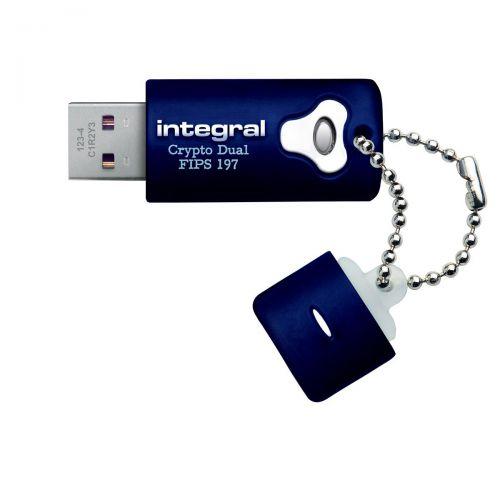 Integral Crypto Dual Flash Drive USB 2.0 FIPS 197 256-bit Encryption 8GB Ref INFD8GCRYPTODL197