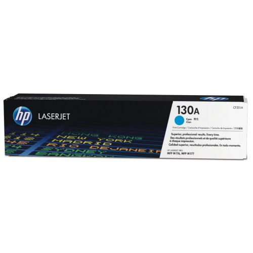 HP 130A Laser Toner Cartridge Page Life 1000pp Cyan Ref CF351A