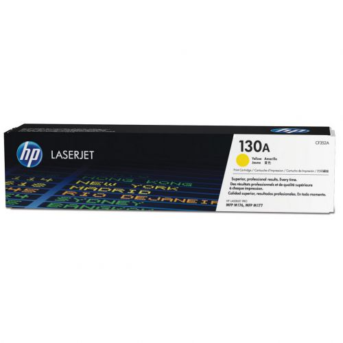 HP 130A Laser Toner Cartridge Page Life 1000pp Yellow Ref CF352A