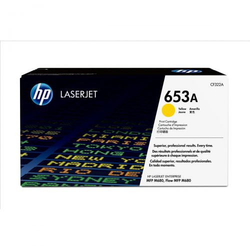Hewlett Packard [HP] 653A Laser Toner Cartridge Page Life 16500 Yellow Ref CF322A