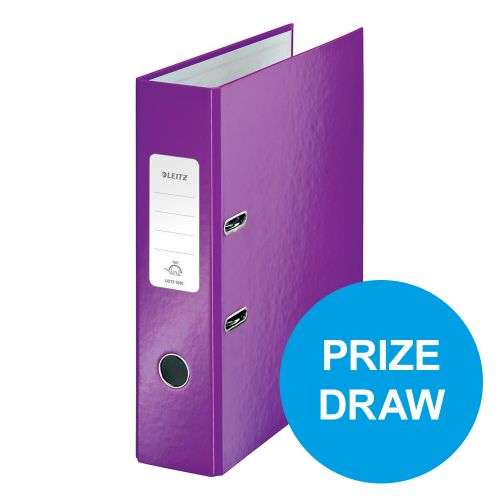 Leitz WOW Lever Arch File 80mm Spine for 600 Shts A4 Purple Ref 10050062 [Pack 10] [REDEMPTION] Oct-Dec19