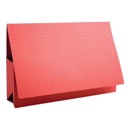 Guildhall Probate Wallets Manilla 315gsm 75mm Foolscap Red Ref PRW2-REDZ [Pack 25]