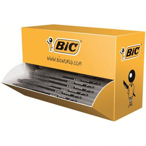 Bic Cristal Rollerball Pen Gel Ink 0.7mm Tip 0.45mm Line Black Ref 919235 [Pack 20]