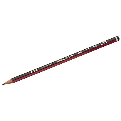 Staedtler 110 Tradition Pencil HB Ref 110-HB [Pack 12] NSW1
