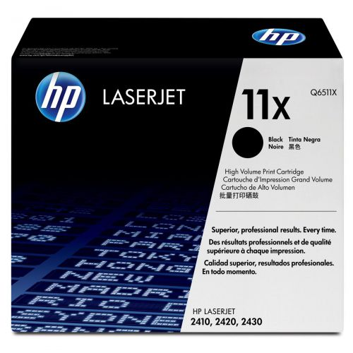 HP 11X Laser Toner Cartridge High Yield Page Life 12000pp Black Ref Q6511X