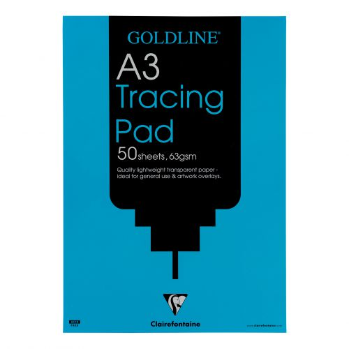 Goldline Popular Tracing Pad 63gsm Acid-free Paper 50 Sheets A3 Ref GPT2A3Z [Pack 5]