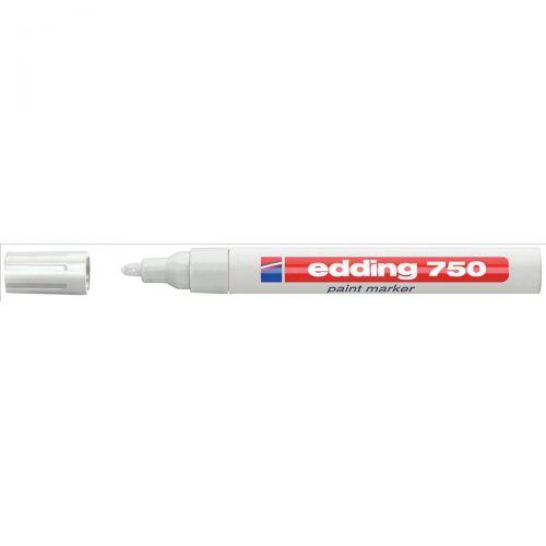 Edding 750 Paint Marker Bullet Tip 2-4mm White Ref 4-750049 [Pack 10]