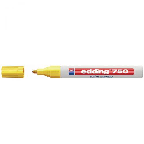 Edding 750 Paint Marker Bullet Tip 2-4mm Yellow Ref 4-750005 [Pack 10]