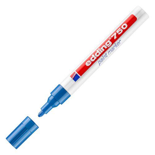 Edding 750 Paint Marker Bullet Tip 2-4mm Blue Ref 4-750003 [Pack 10]