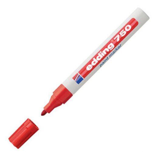 Edding 750 Paint Marker Bullet Tip 2-4mm Red Ref 4-750002 [Pack 10]