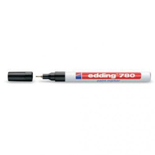 Edding 780 Paint Marker Extra Fine Bullet Tip 0.8mm White Ref 4-780049 [Pack 10]