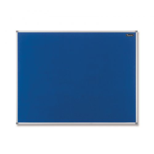 Nobo Basic Felt Notice Board Aluminium Trim 1200x900mm Blue Ref 1904071