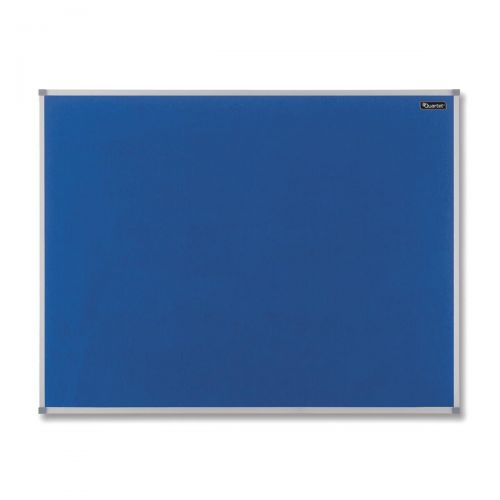 Nobo Basic Felt Notice Board Aluminium Trim 1800x1200mm Blue Ref 1904072