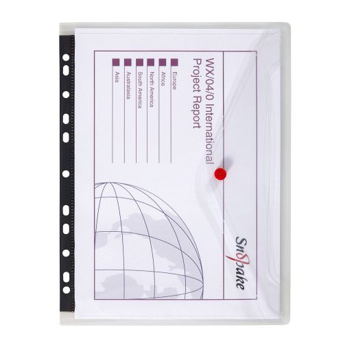 Snopake Polyfile Ring Binder Wallet Polypropylene A4 Clear Ref 12566 [Pack 5]