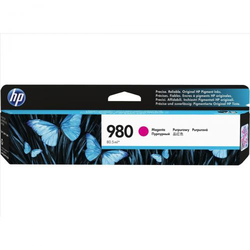Hewlett Packard [HP] No.980 Inkjet Cartridge Page Life 6600pp Cartridge Magenta Ref D8J08A