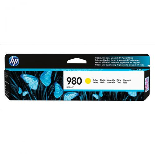 Hewlett Packard [HP] No.980 Inkjet Cartridge Page Life 6600pp Cartridge Yellow Ref D8J09A