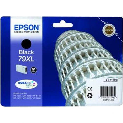 Epson 79XL Inkjet Cartridge Tower of Pisa High Yield Page Life 2600pp 41.8ml Black Ref C13T79014010