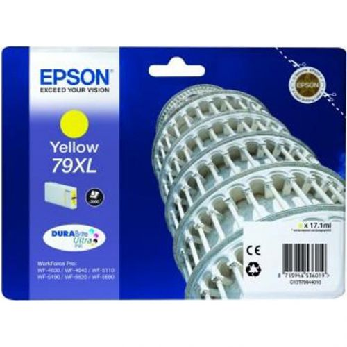 Epson 79XL Inkjet Cartridge Tower of Pisa High Yield Page Life 2000pp17.1ml Yellow Ref C13T79044010