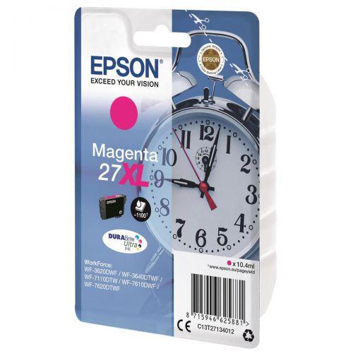 Epson 27XL Inkjet Cartridge Alarm Clock High Yield Page Life 1100pp 10.4ml Magenta Ref C13T27134012