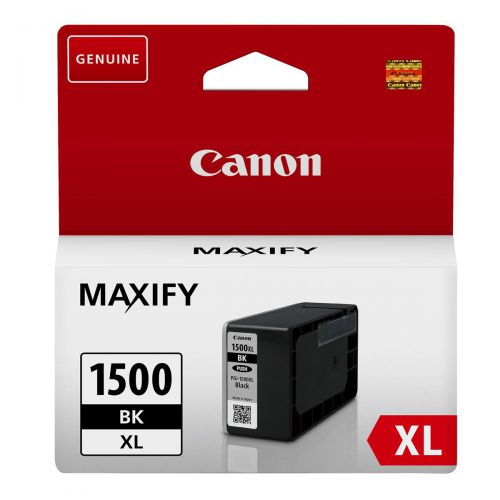 Canon PGI-1500XLBLK Inkjet Cartridge High Yield 34.7ml Page Life 1200pp Black Ref 9182B001AA