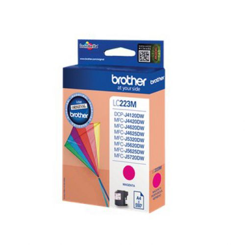 Brother Inkjet Cartridge Page Life 550pp Magenta Ref LC223M