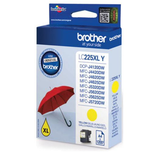 Brother Inkjet Cartridge High Yield Page Life 1200pp Yellow Ref LC225XLY