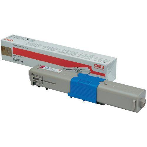 OKI Laser Toner Cartridge Page Life 1500pp Magenta Ref 44973534