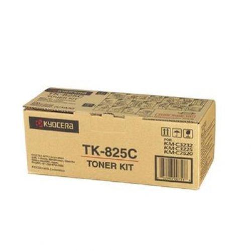 Kyocera TK825C Laser Toner Cartridge Page Life 7000pp Cyan Ref KYTK825C