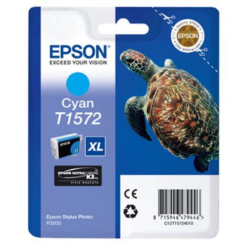 Epson T1572 Inkjet Cartridge XL Turtle 25.9ml Cyan Ref C13T15724010
