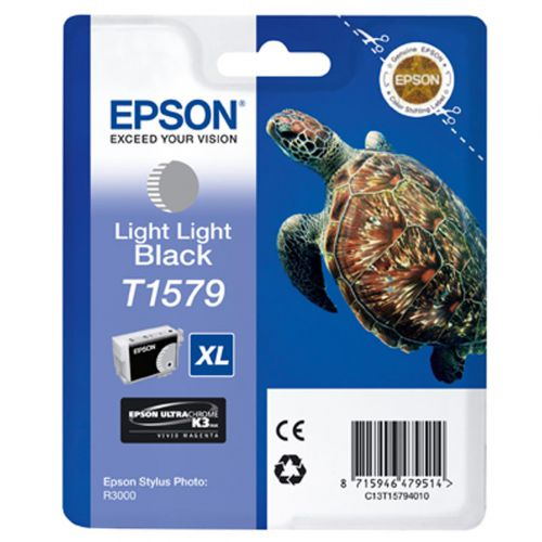 Epson T1579 Inkjet Cartridge XL Turtle 25.9ml Light Light Black Ref C13T15794010