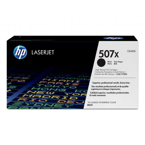 Hewlett Packard HP 507X Laser Toner Cartridge High Yield Page Life 11000pp Black Ref CE400X