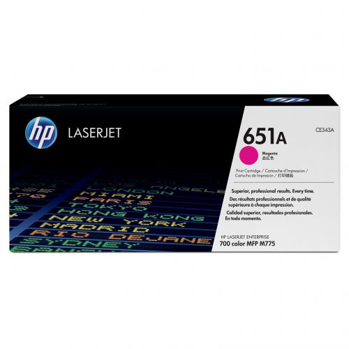 HP 651A Laser Toner Cartridge Page Life 16000pp Magenta Ref CE343A
