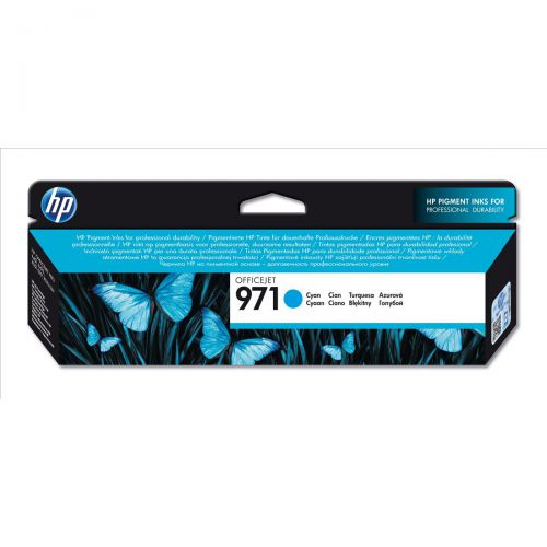 Hewlett Packard [HP] No.971 Inkjet Cartridge Page Life 2500pp 24.5ml Cyan Ref CN622AE