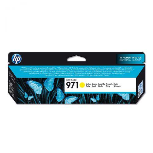 Hewlett Packard [HP] No.971 Inkjet Cartridge Page Life 2500pp 32ml Yellow Ref CN624AE