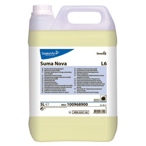 Suma Nova Diversey L6 Dishwasher Detergent 5 Litres Ref 7508307 [Pack 2]