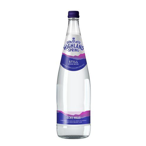 Highland Spring Still Mineral Water Bottle Glass 1 litre Ref 22103 [Pack 12]