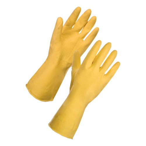 Rubber Gloves Large Yellow [Pair]