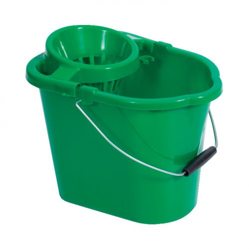 Oval Mop Bucket Green MBPG