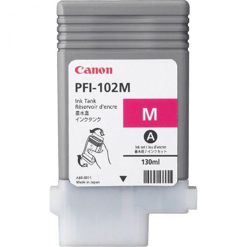 Canon PFI-102M Ink Tank 130ml Magenta Ref 0897B001AA